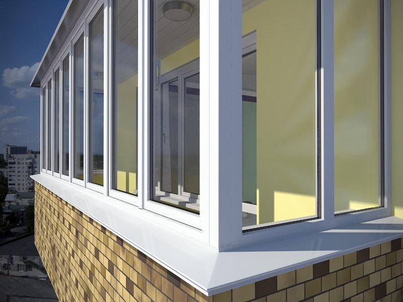 Остекление балконов и лоджий из алюминиевого профиля.