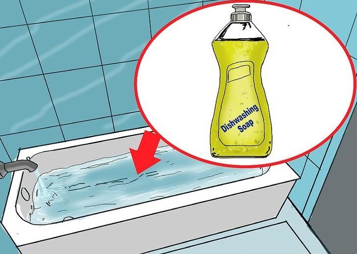 стирка тканевых ролет в ванной