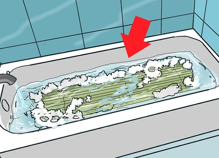 стирка тканевых ролет в ванной 2